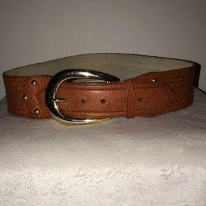 Michael Kors leather tan high waist belt
